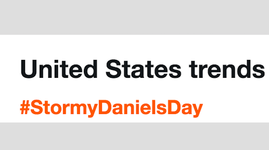 United States Trends: #StormyDanielsDay