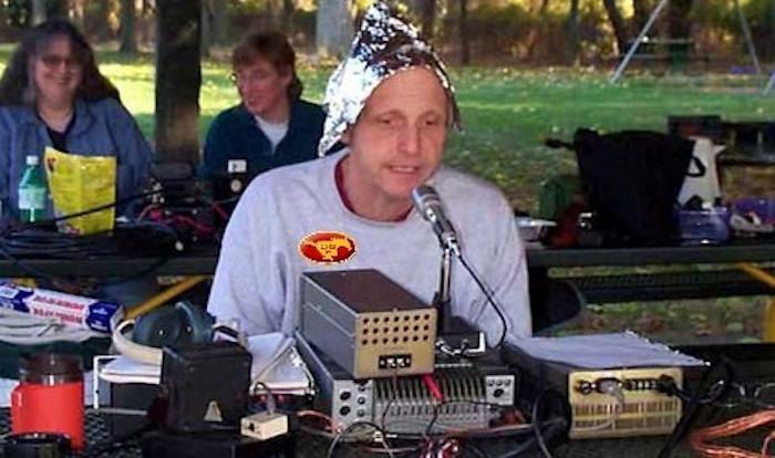 those tinfoil hat-wearing conspiracy nutters